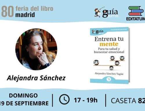 Alejandra Sánchez Yagüe firma ejemplares de su nuevo libro en la 80 Feria del Libro de Madrid